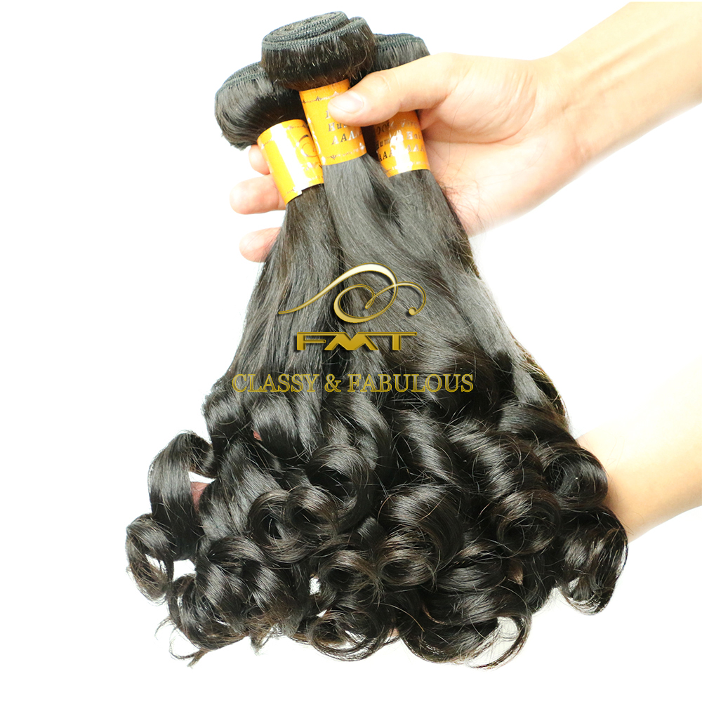 FMT Wholesale Unprocessed Lovely Fumi Wave Human Hair 8A Virgin Brazilian Hair Weft