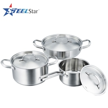 Stainless steel cookware product suppliers stainless steel korean cooking pot set