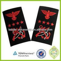 High quality garment various styles fashion woven epaulets
