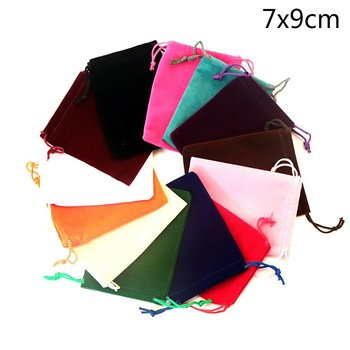 Luxury Velvet Jewelry Pouches Drawstring Gift Favor Bags Candy Bag