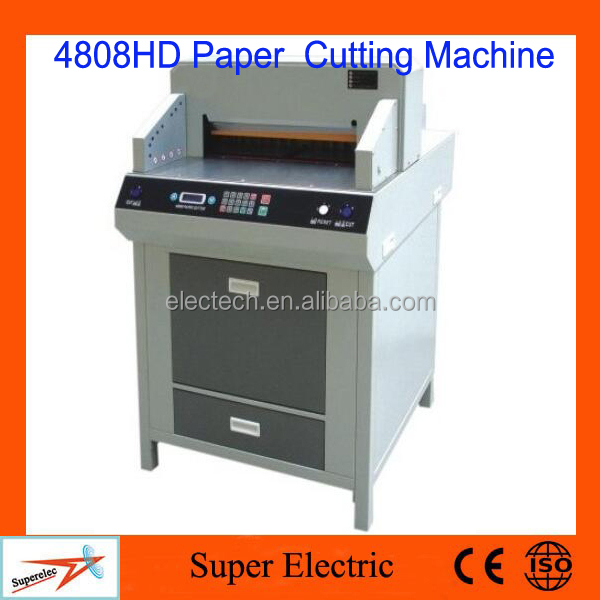 Heavy Duty Programmable Paper Cutter 4808HD,Paper Guillotine Cutter
