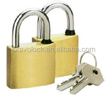 brass padlock with normal key