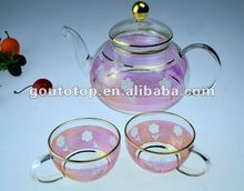 Glass tea set Heat resistant borosilicate glass Chinese style