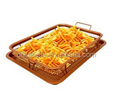 Gotham Steel Crispy Tray Stainless Steel Copper Crisper Frying Pan