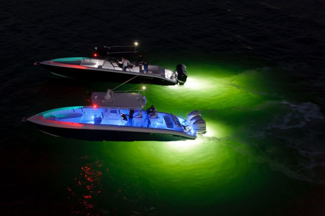 10W IP68 Boat Underwater Lighting 10 - 30V DC Boat Led Lights