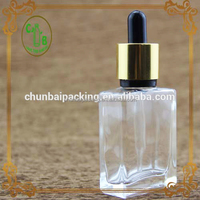 clear glass perfume bottle for wedding gift