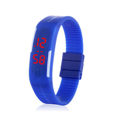 China supplier Touch Screen LED Square Silicone Watches Digital Wrist Watch Men Rubber Band