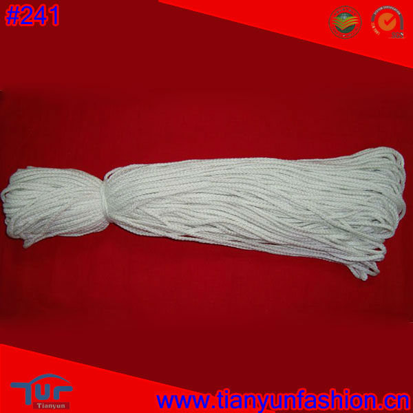 8 strands polyester and cotton round woven braided Cord