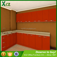 high gloss top quality modern custon mdf laminate solid wood kitchen cabinet / kitchen cupboard price made in china
