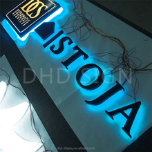 backlit letters led channel letter signs stainless steel signage