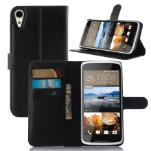 Litchi PU Card Holder Wallet Flip Leather Case For HTC Desire 828