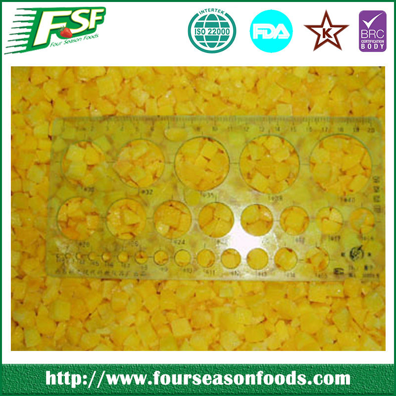 IQF /frozen yellow peach dices in 2017 ,frozen berry fruit