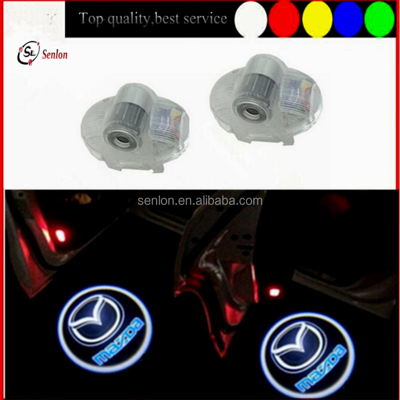 Good quality Mazda Accessories laser LED car auto shadow logo light auto Door Courtesy Ghost light