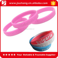 Free style silicone wrist band with customized logo