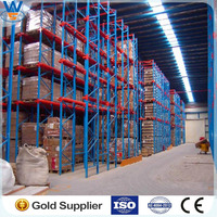 Warehouse drive-in racking storage system