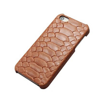 wp1028b Brown Leather Case for Apple Iphone 6 plus Case Snake Pattern