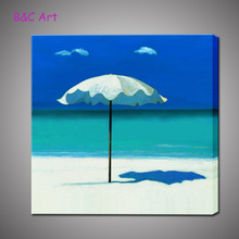 Fine Wall Art Seaside Scenery Oil Painting Bedroom Decoration for Wholesale