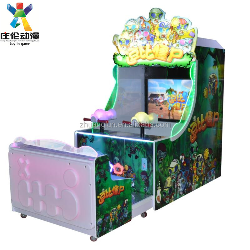 FUNNY ZOMBIES,kids coin operated shooting water amusement vending game machine