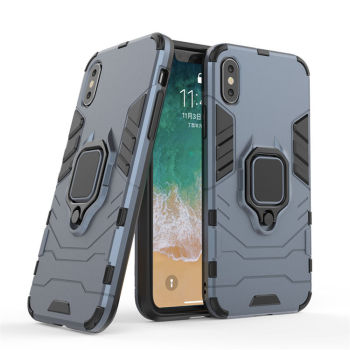 BIBERCAS 360 Degree Rotating Ring Grip Kickstand Dual Layer Shockproof mobile phone back cover case for iphone x 8 7 6 5