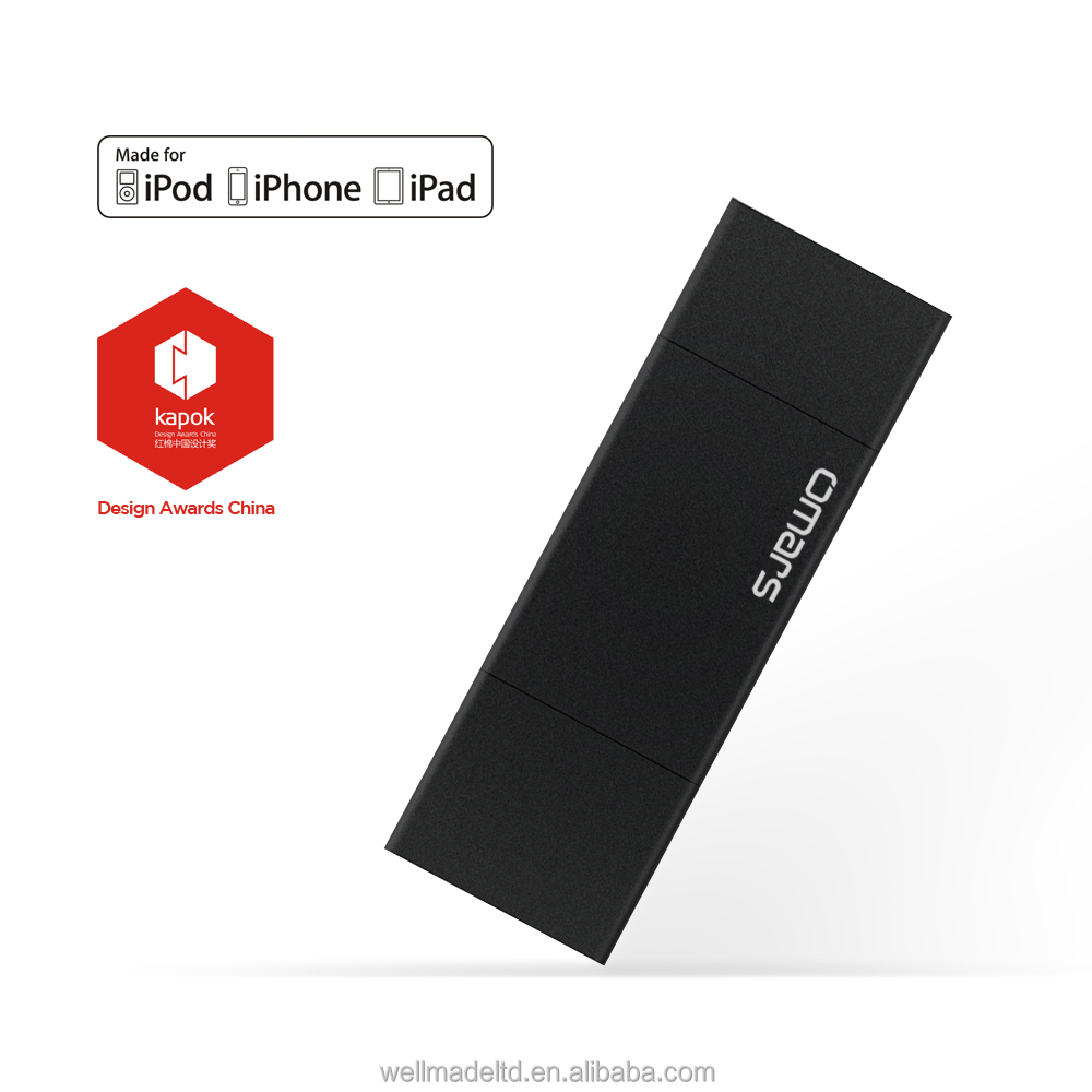 Omars Black Meteorite 32G / 64G OTG USB 3.0 Flash Drive for iPhone ipad ipod external storage