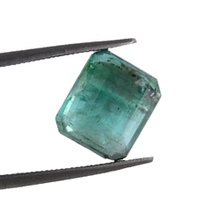 Radiant Cut Certified Colombian Natural Emerald in Cambridge