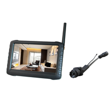 5.8g wireless mini camera and portable dvr receiver(90deg,100m,5inch hd screen,motion dectect,9.5hours seamless loop recording)