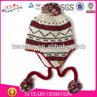 100 Acrylic Cheap Knitted Cool Beanies,Cute Crochet Beanie Hat With Braid