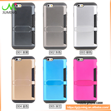 Armor Phone Case With Business Card Holder For Iphone 6s photo bag leather case for iphone 6