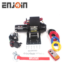 ENJOIN 4500 lbs ATV electric winch 12V high speed winch 4WD