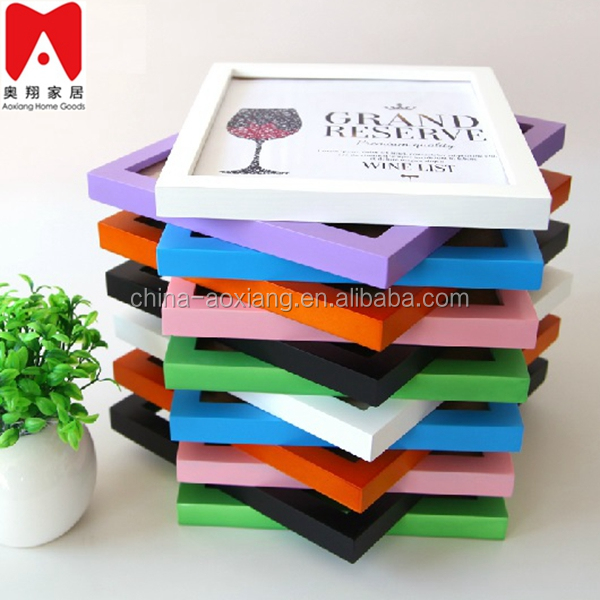 Colourful Plastic Picture Frame 4x6 5x7 6x8 8x10 paper photo frame insert