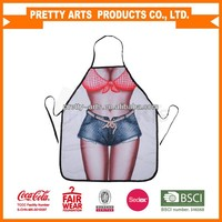 promotional sexy design water proof kitchen plastic pvc aprons new arrive