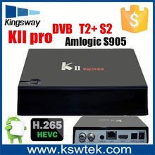 2016 DVB-T2 Kii pro set top box HD 1080P digital tv broadcast equipment stb cheap & high quality