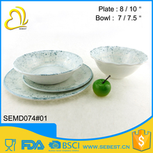 wholesale price reusable hard melamine plastic dinnerware