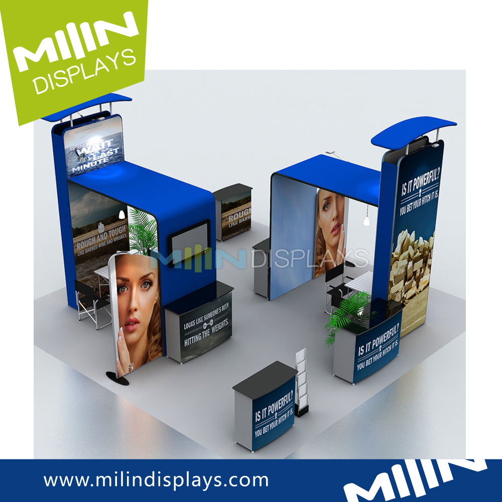 Exhibition Advertising Booth makeup display stand for Trade Fairs
