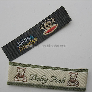 lovely child private clothes woven label for kids clothing
