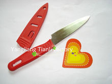 Hotel Red handle colored ceramic knife with pound case