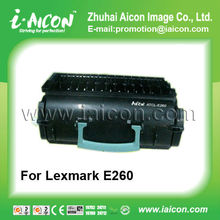 Hot Toner and low price Compatible Black toner Cartridge for Lexmark E260 with new Chip APEX Chip