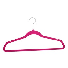 pink flocked velvet clothes hangers short coat hangers rack