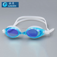 Adult mirror swim goggles for Unisex silicone eyecup strap durble swim goggle