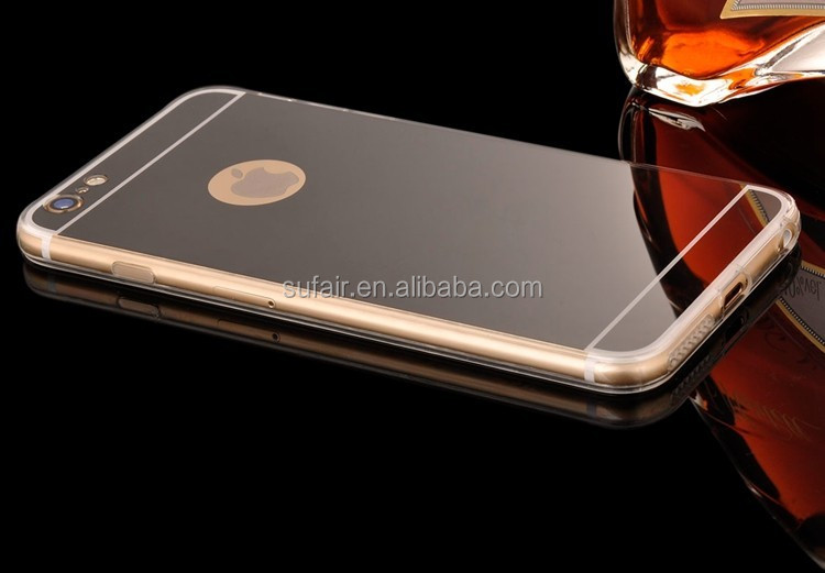 Luxury Electroplate Mirror Soft TPU Silicone Case Back Cover For iPhone 6S 6S Plus Rose Gold Mirror Phone Case