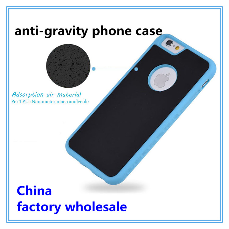 2016 wholesale anti gravity phone case for iphone 6s case nanotechnology sticky cell phone case