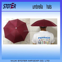 Promotional Light China Factory Hat Custom Print Head Umbrella
