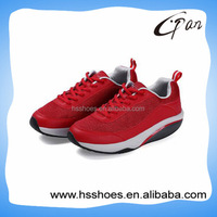 Comfortable red men fitness sports footwear