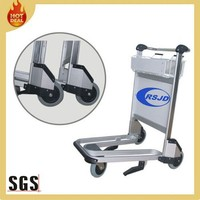 3 wheels aluminum handle brake airport luggage trolley cart