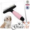 Silica gel handle hard pin pet rake comb dog grooming
