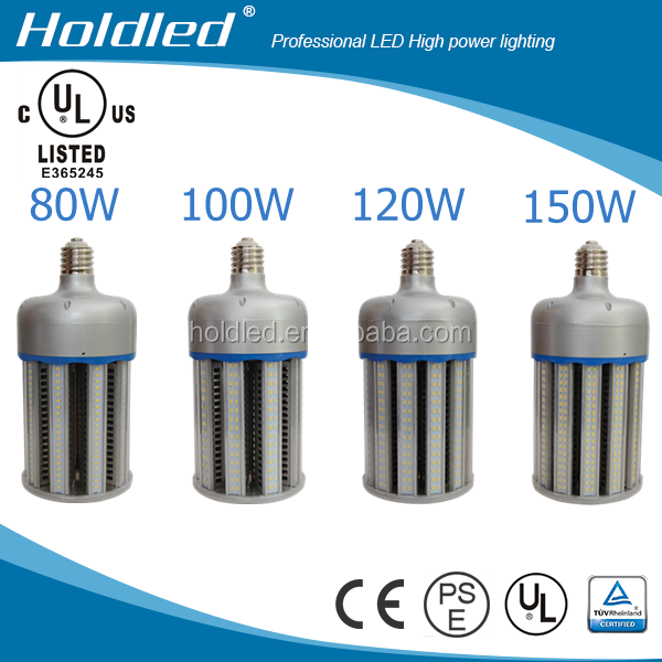 100w UL DLC LISTED energy saving retrofit no fan LED Corn light for enclosed post top replacement for 300 watt metal halide