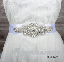 factory direct wedding dress Sash accessory Beaded belt WS1009
