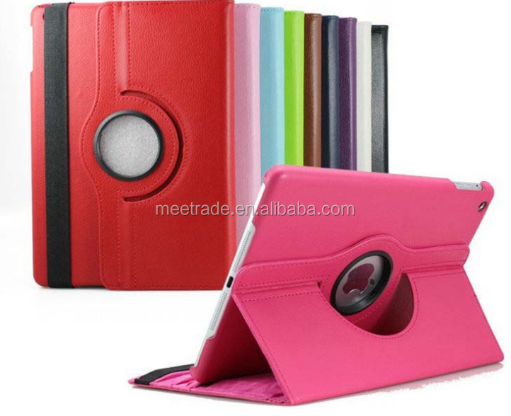 360 Degree Rotating Cases flip leather case for IPad mini 1 2 3