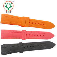 China supplier rubber watch band 22mm silicone watch strap with watch bands buckle