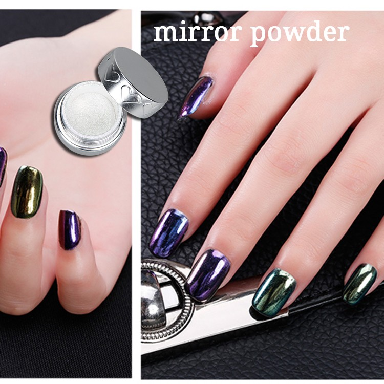 Nail art set mirror effect pigment powder for nails